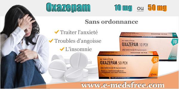 EpOxazepam sans ordonnance pour traiter l'anxieté et les crises d'angoisse