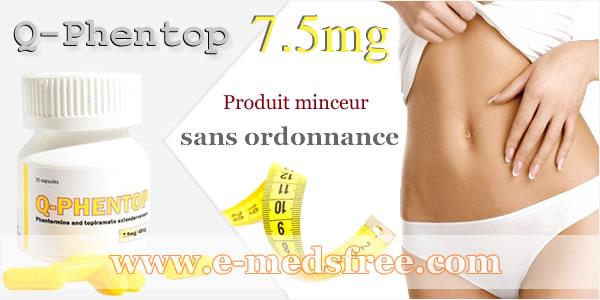 Q-Phentop 7.5 mg (Qsymia) pour maigrir efficacement sur la Pharmacie www.e-medsfree.com