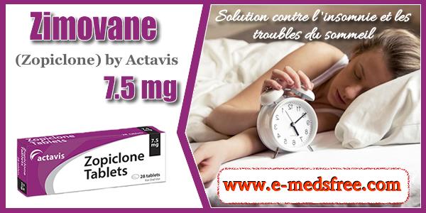 Zimovane Zopiclone sans ordonnance contre les troubles du sommeil. Prix accessibles sur la Pharmacie www.e-medsfree.come